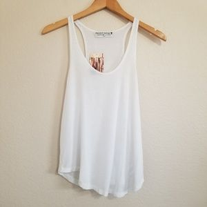 NWT Urban Outfitters White Racerback Tank Top XS